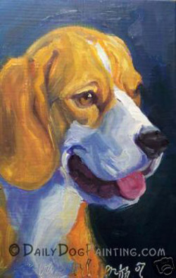 Daily Dog Painting by Liz